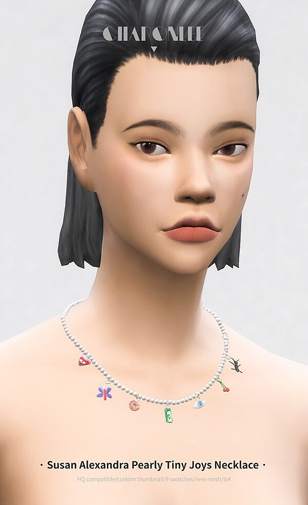 Pearly Tiny Joys Necklace Free from Charonlee