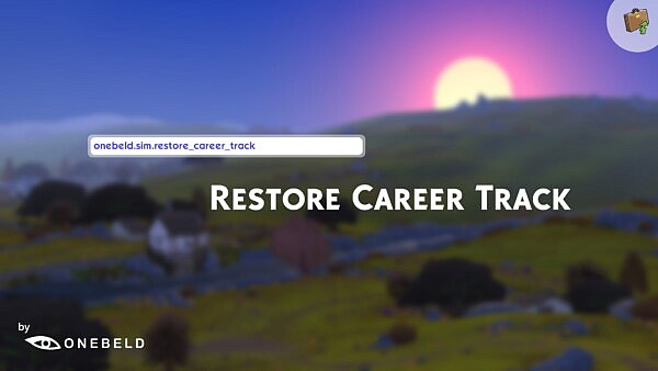 Restore Career Track by Onebeld from Mod The Sims