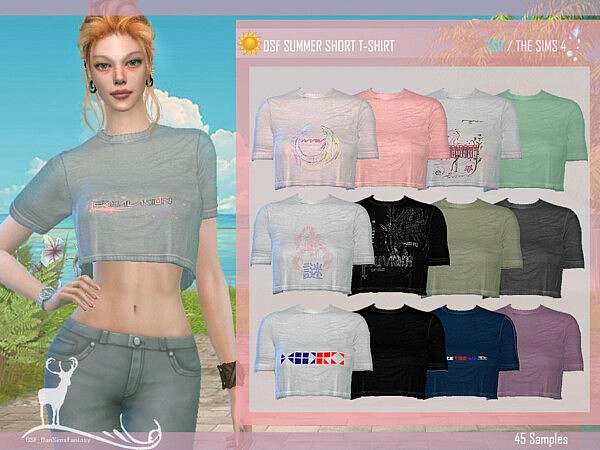 Summer Short T shirt by DanSimsFantasy from TSR