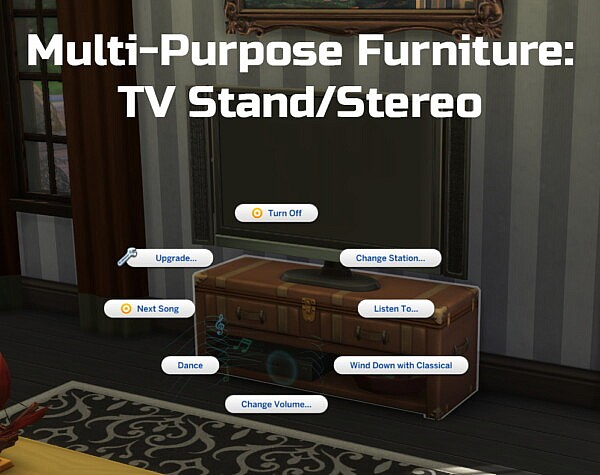 Multi Purpose Furniture TV Stand/Stereo by Ilex from Mod The Sims