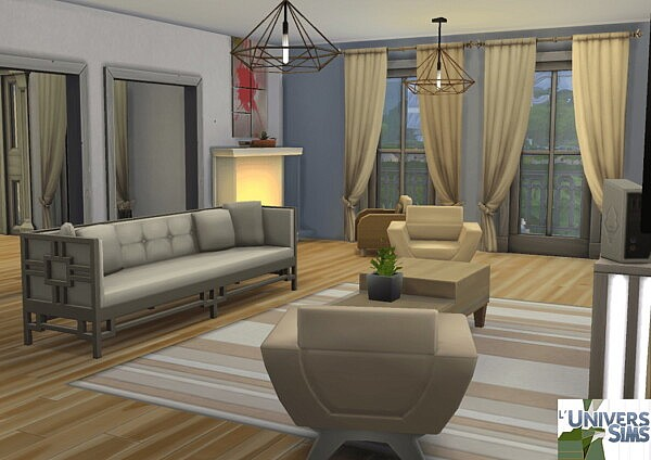 White New Orleans House from Luniversims