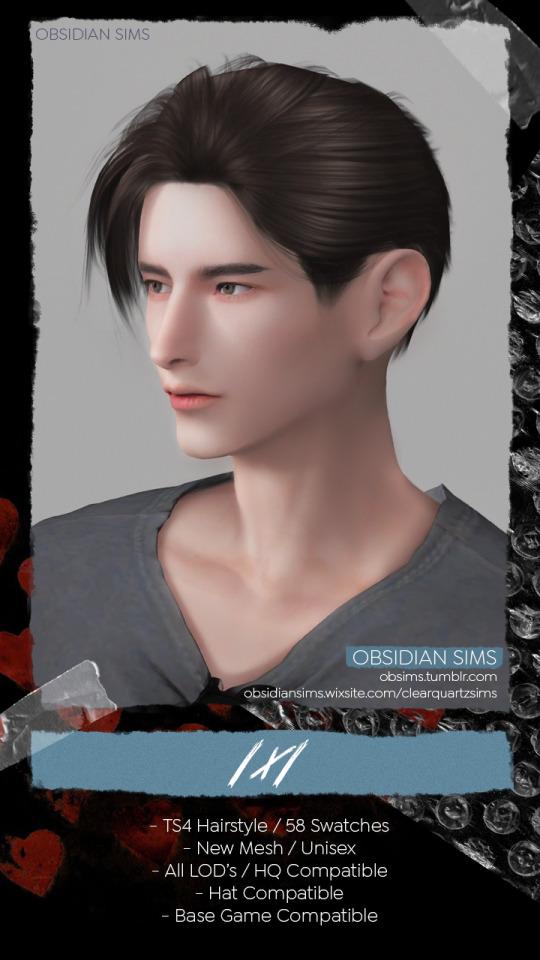 1x1 Hair from Obsidian Sims