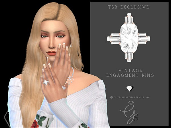 Vintage Engagement Ring by Glitterberryfly from TSR