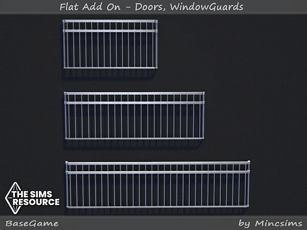 Flat AddOn   Doors and Window Guards by Mincsims from TSR