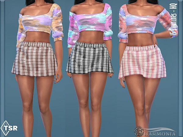 Gingham Print A line Skirt by Harmonia from TSR