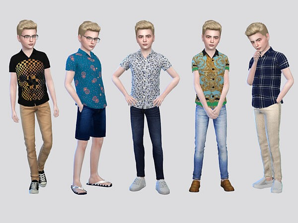 Donix Patterned Shirt Boys by McLayneSims from TSR