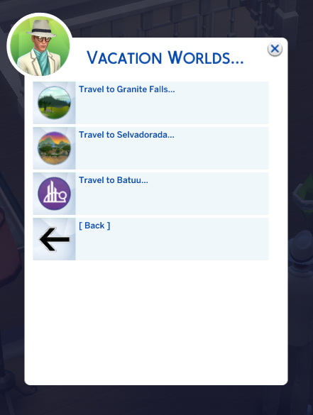 Travel To Venue Hidden and Vacation Destinations by TwelfthDoctor1 from Mod The Sims