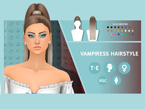 Vampiress Hairstyle by simcelebrity00 from TSR