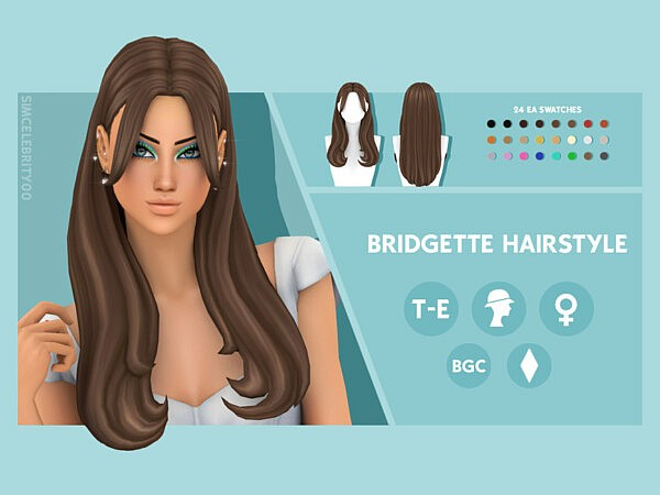 Bridgette Hairstyle by simcelebrity00 from TSR