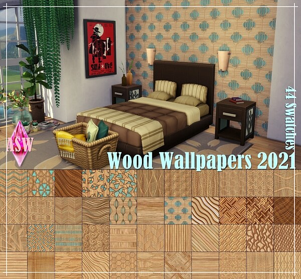Wood Wallpapers 2021 from Annett`s Sims 4 Welt